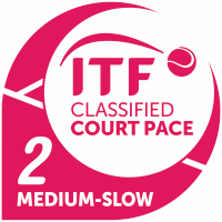 ITF Classified Court Pace 2 (medium-slow)